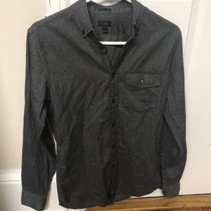Men's J Crew Slim Fit Grey Button Down 100% Cotton